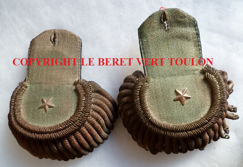 EPAULETTES 1° EMPIRE COLONEL OU ADJUDANT GENERAL ORIGINALES